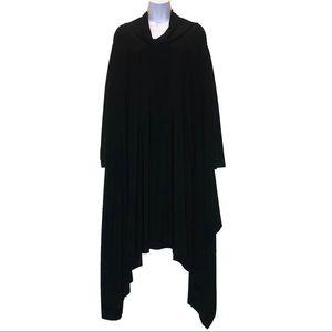Mashiah Cowl Neck Long Sleeve Asymmetrical Dress